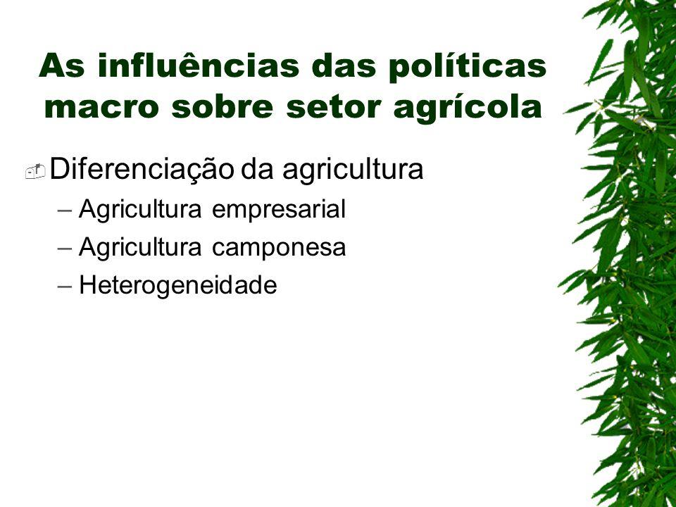 As influências das políticas macro sobre setor agrícola