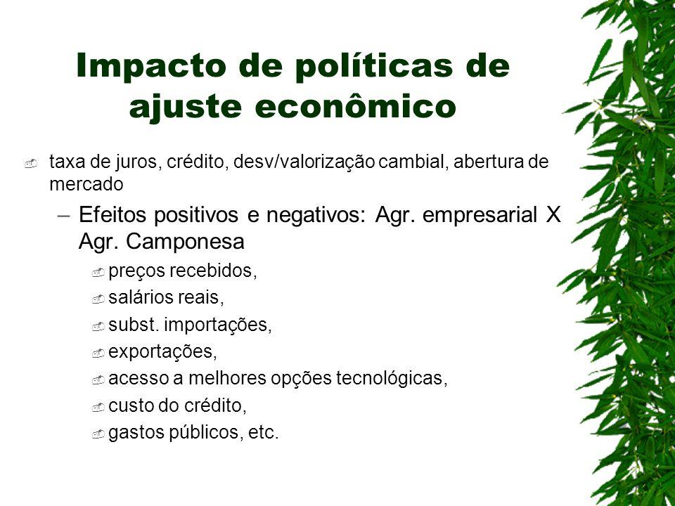 Impacto de políticas de ajuste econômico