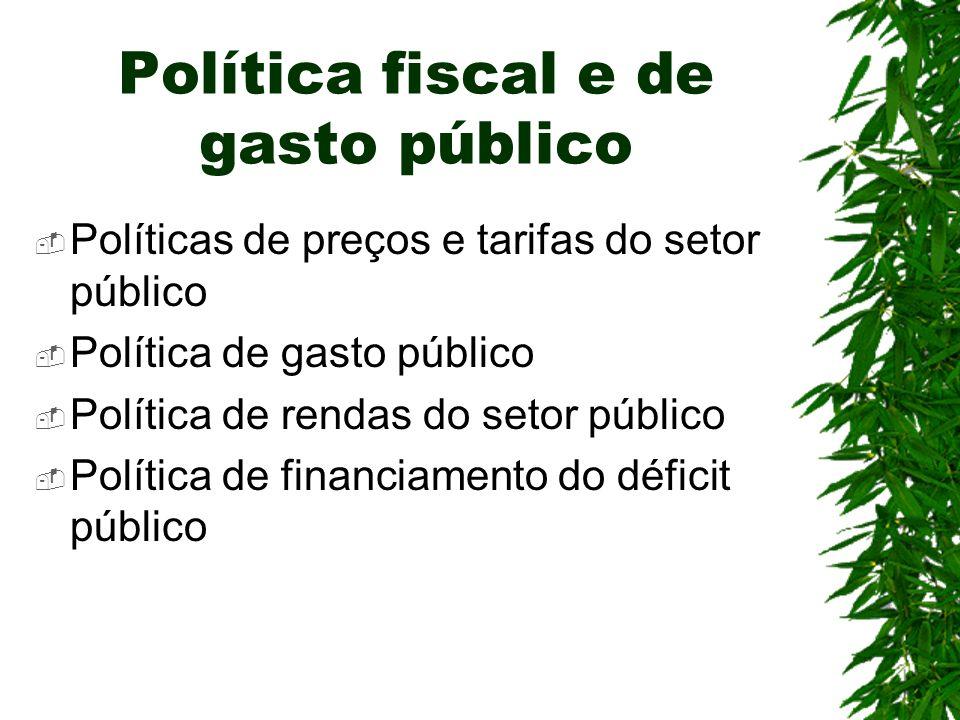 Política fiscal e de gasto público
