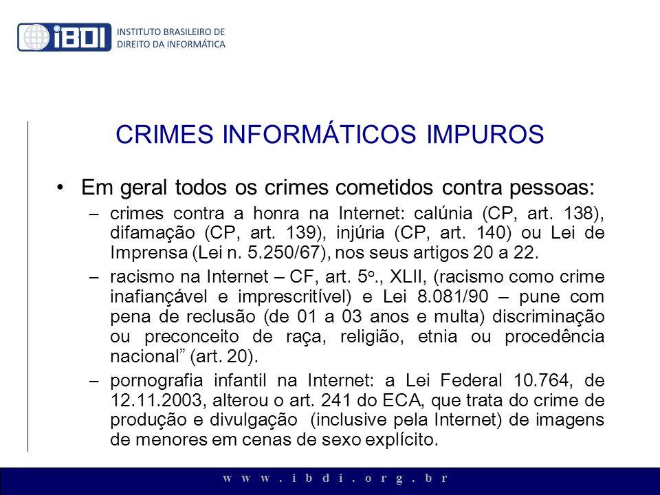 CRIMES INFORMÁTICOS IMPUROS