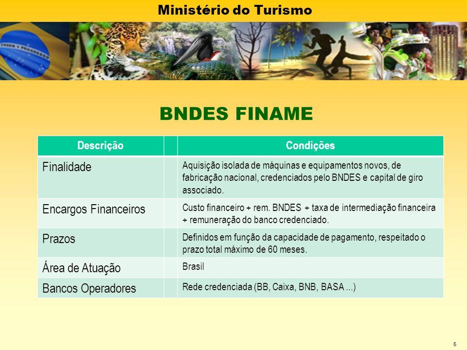 BNDES FINAME Finalidade Encargos Financeiros Prazos Área de Atuação