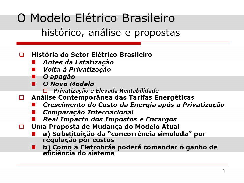 O Modelo Elétrico Brasileiro histórico, análise e propostas