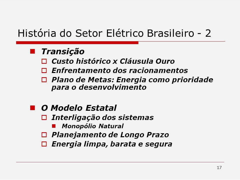 História do Setor Elétrico Brasileiro - 2