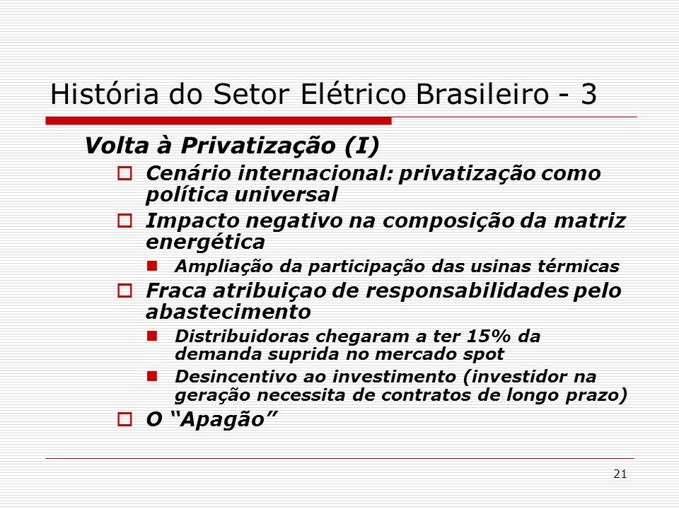 História do Setor Elétrico Brasileiro - 3