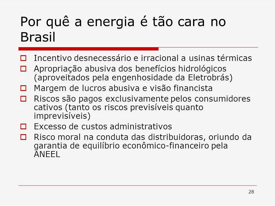 Por quê a energia é tão cara no Brasil