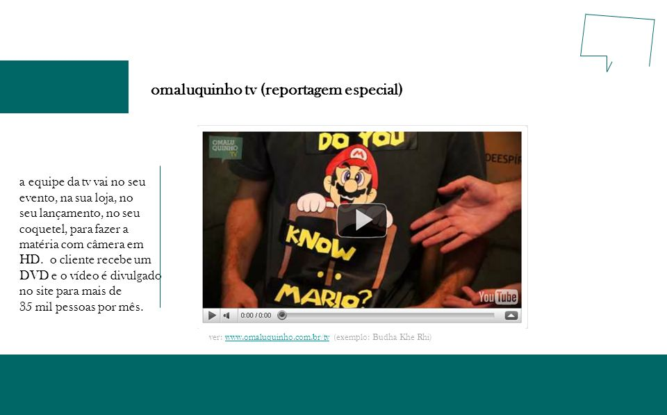 omaluquinho tv (reportagem especial)