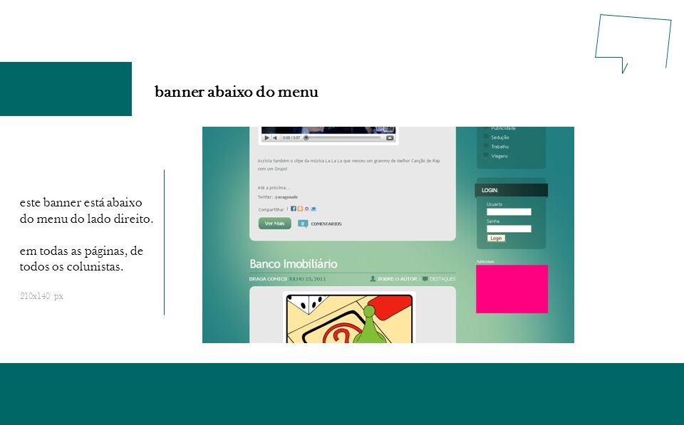 banner abaixo do menu este banner está abaixo do menu do lado direito.