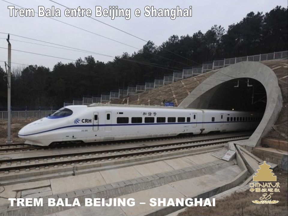 Trem Bala entre Beijing e Shanghai