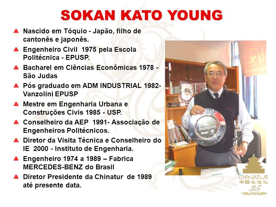 SOKAN KATO YOUNG Nascido em Tóquio - Japão, filho de cantonês e japonês. Engenheiro Civil 1975 pela Escola Politécnica - EPUSP.
