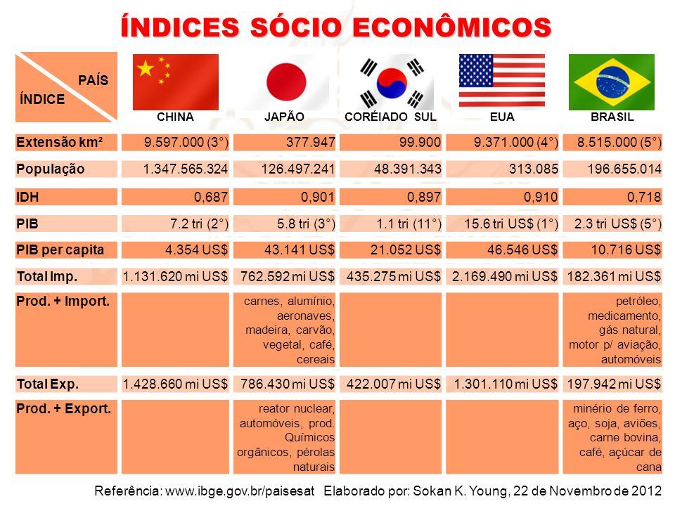 ÍNDICES SÓCIO ECONÔMICOS