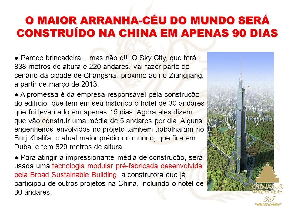 O MAIOR ARRANHA-CÉU DO MUNDO SERÁ CONSTRUÍDO NA CHINA EM APENAS 90 DIAS