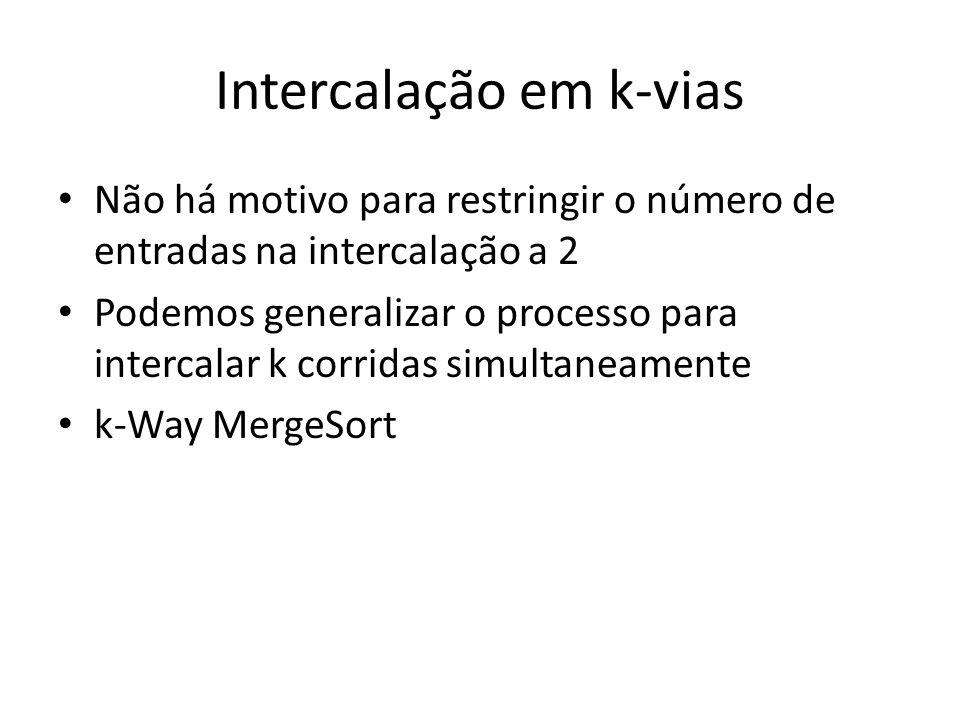 Intercalação em k-vias