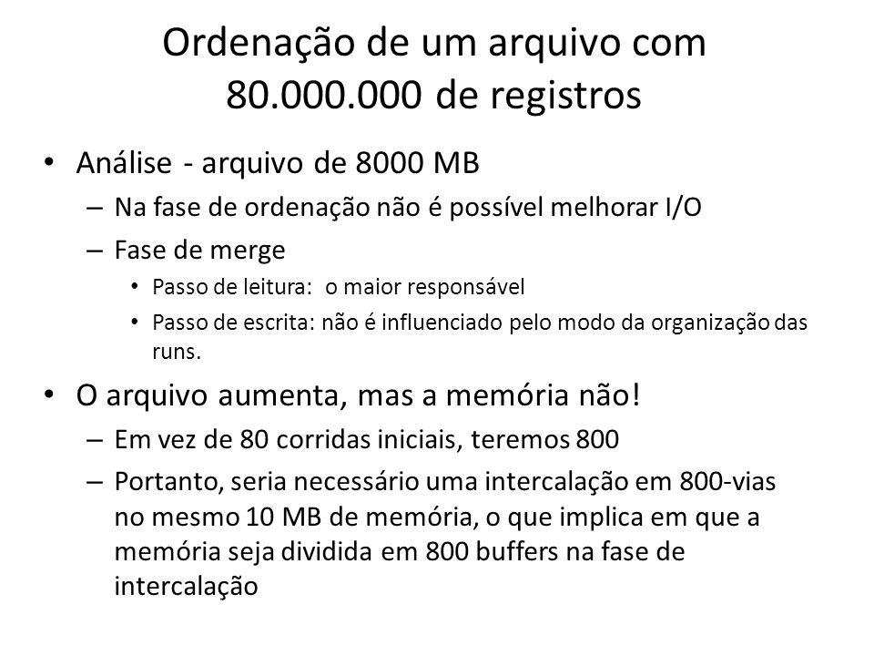 Ordenação de um arquivo com 80.000.000 de registros