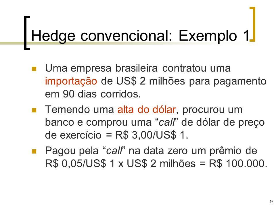 Hedge convencional: Exemplo 1