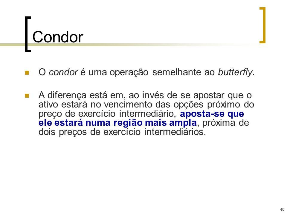Condor O condor é uma operação semelhante ao butterfly.