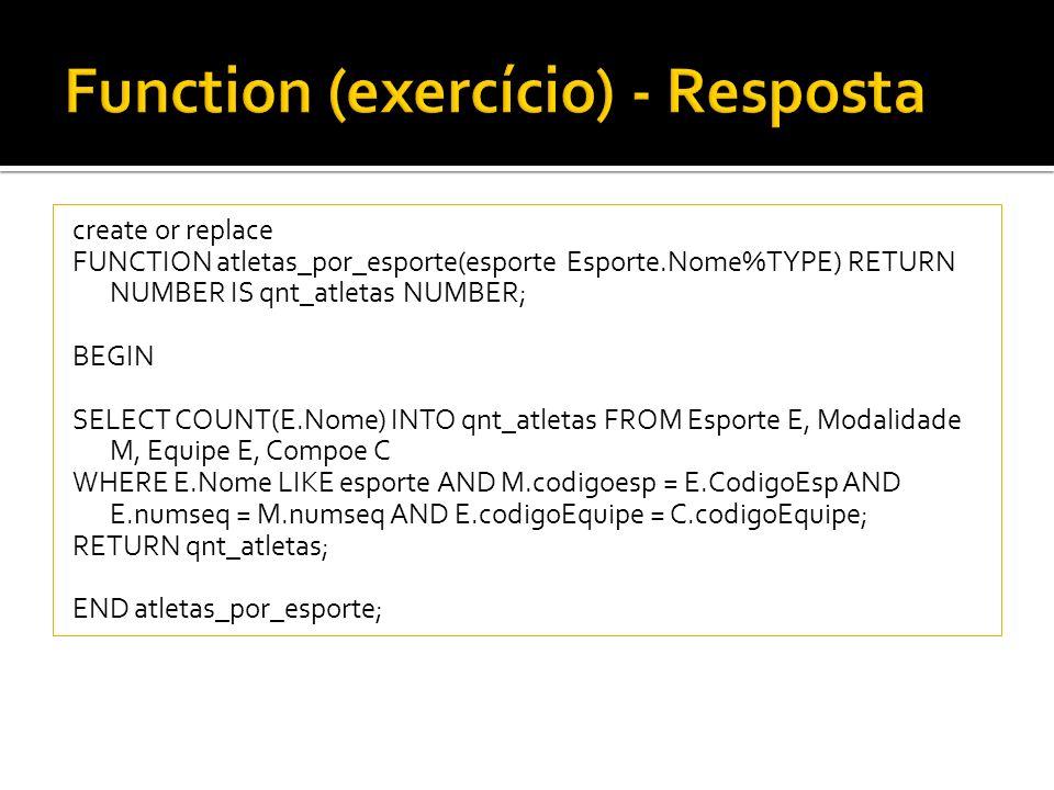 Function (exercício) - Resposta