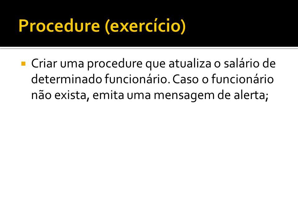 Procedure (exercício)