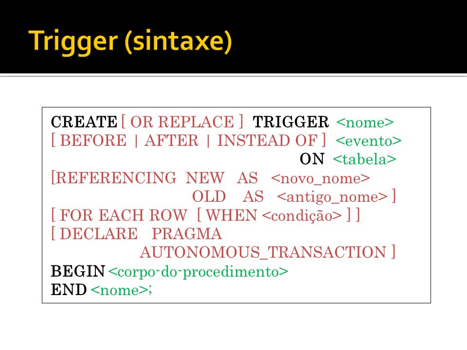 Trigger (sintaxe)