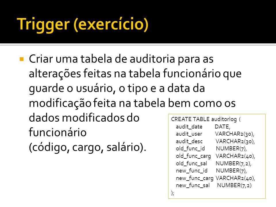 Trigger (exercício)