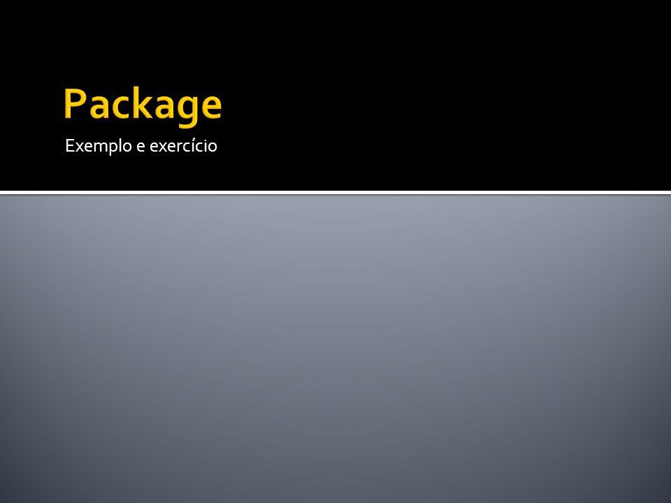 Package Exemplo e exercício