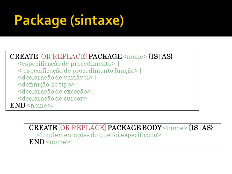 Package (sintaxe)