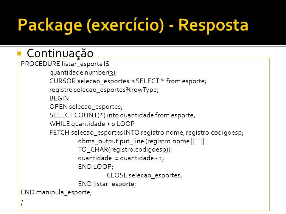Package (exercício) - Resposta