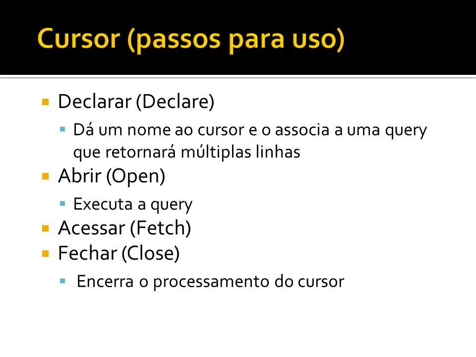 Cursor (passos para uso)