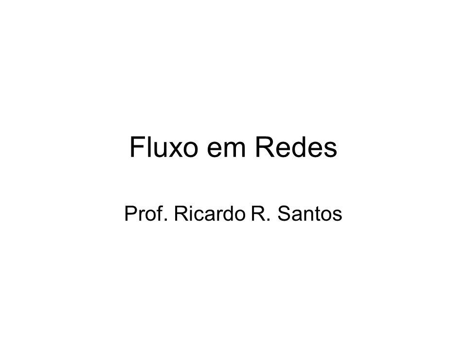 Fluxo em Redes Prof. Ricardo R. Santos