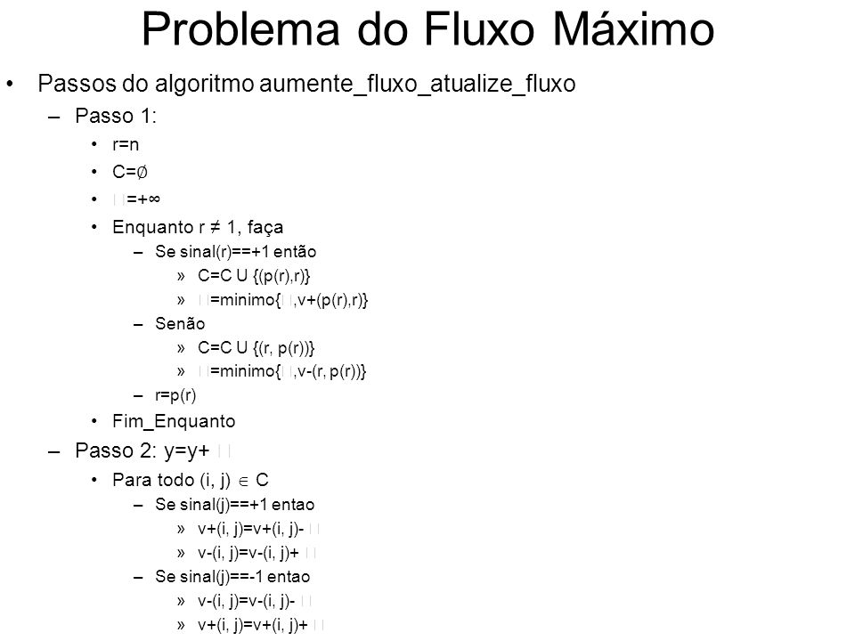 Problema do Fluxo Máximo