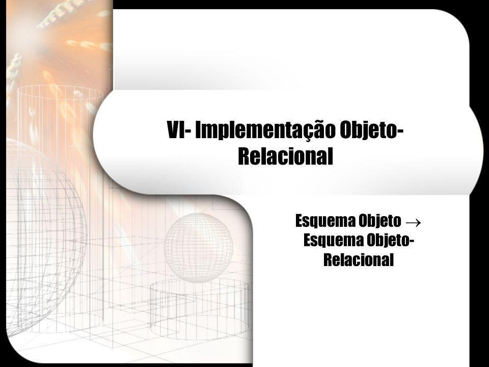 VI- Implementação Objeto-Relacional