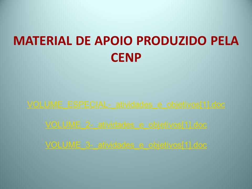 MATERIAL DE APOIO PRODUZIDO PELA CENP