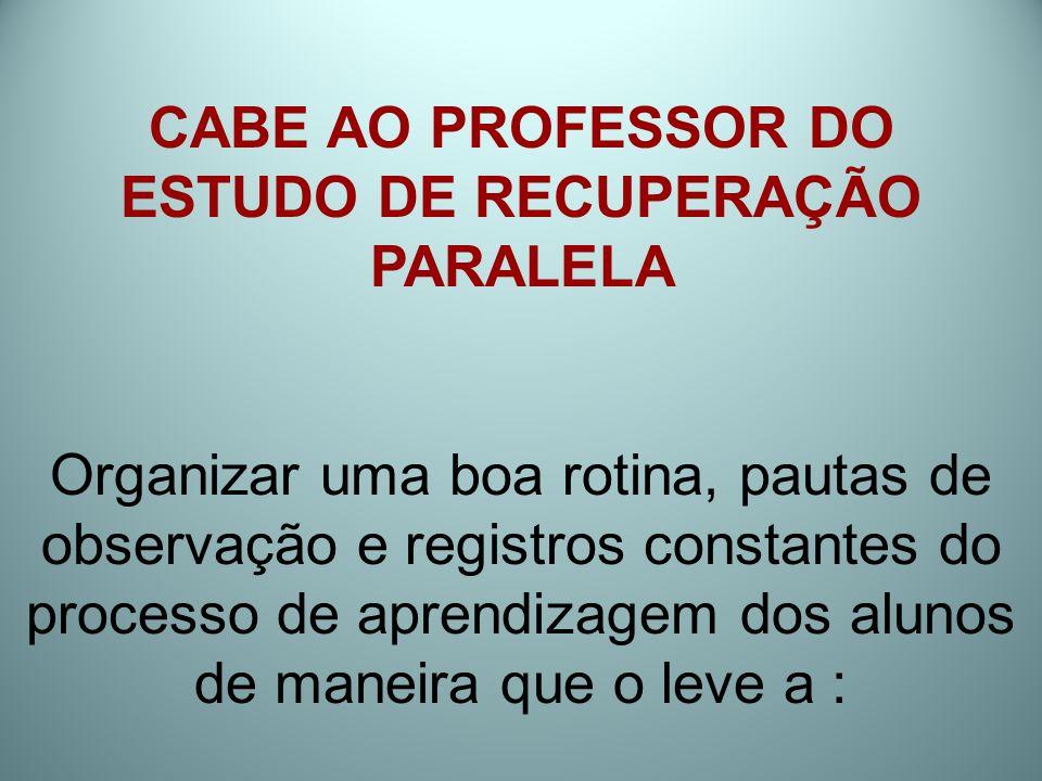 ESTUDO DE RECUPERAÇÃO PARALELA