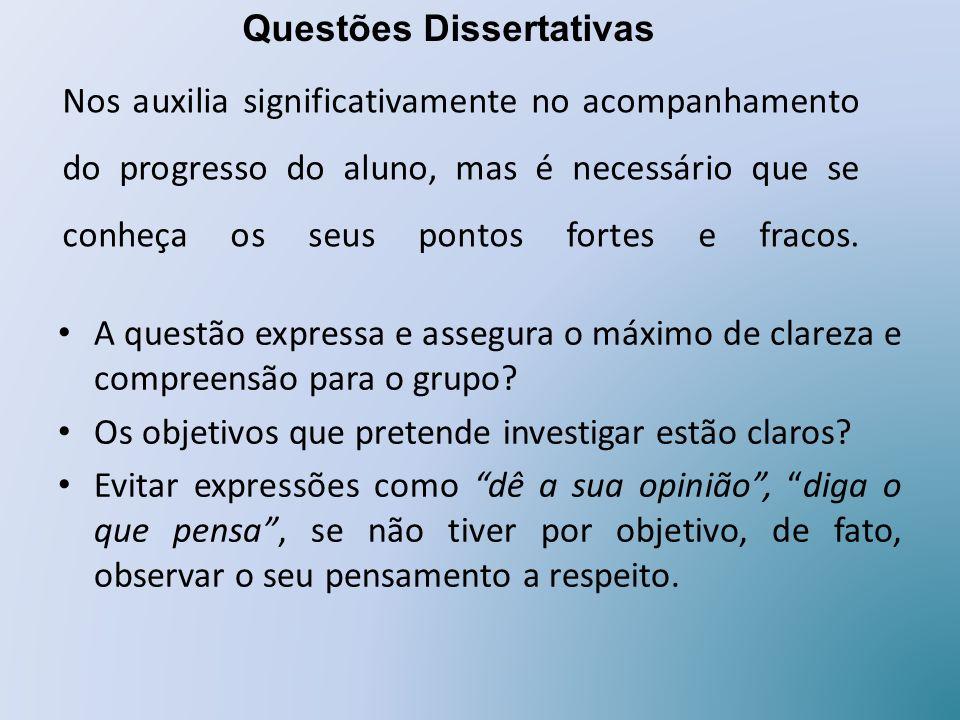 Questões Dissertativas