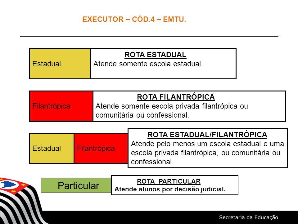 Particular EXECUTOR – CÓD.4 – EMTU. Estadual ROTA ESTADUAL