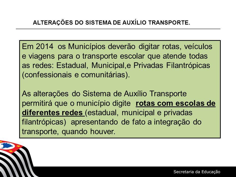 ALTERAÇÕES DO SISTEMA DE AUXÍLIO TRANSPORTE.
