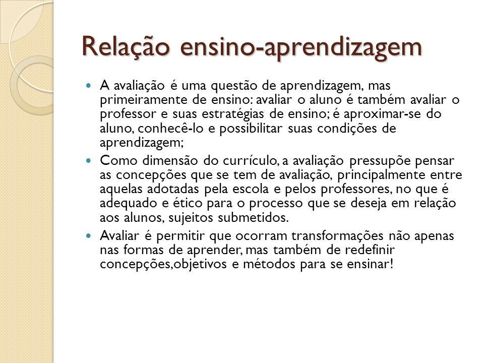 Relação ensino-aprendizagem