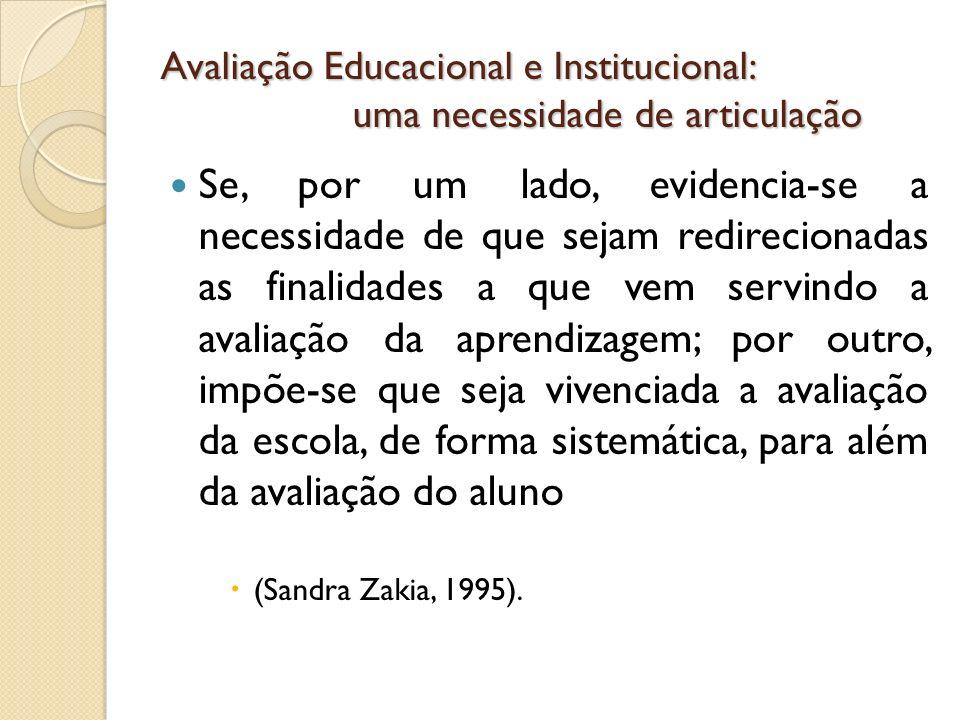 Avaliação Educacional e Institucional: uma necessidade de articulação