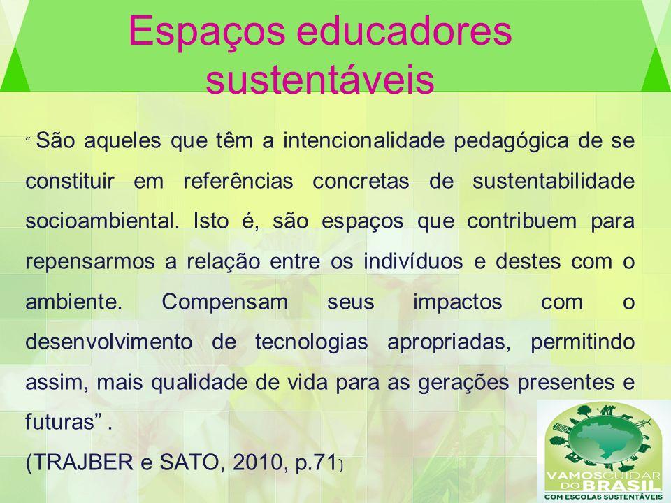 Espaços educadores sustentáveis