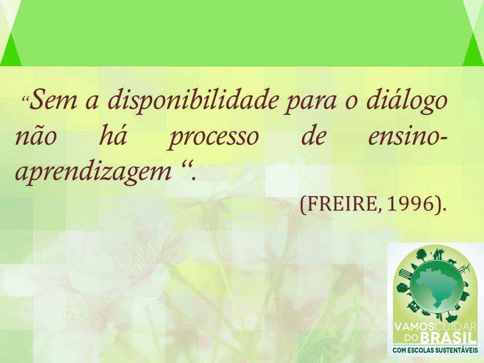 Sem a disponibilidade para o diálogo não há processo de ensino- aprendizagem .