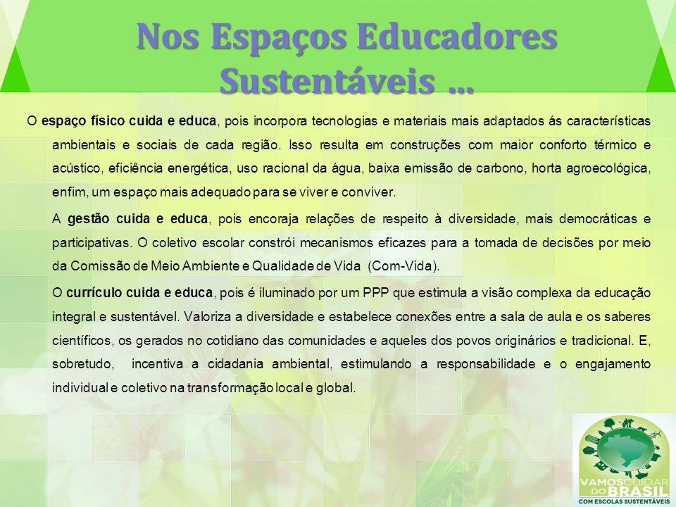 Nos Espaços Educadores Sustentáveis …