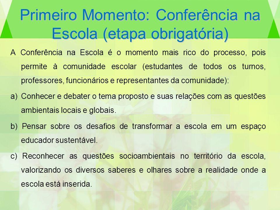 Primeiro Momento: Conferência na Escola (etapa obrigatória)