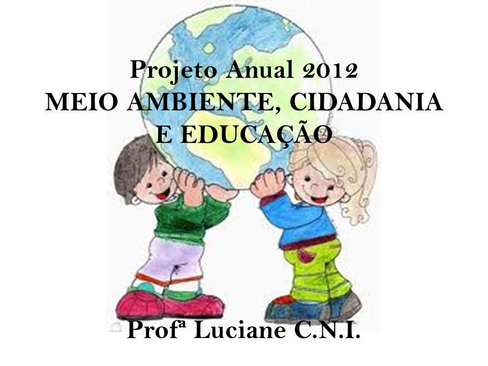 Projeto Anual 2012 MEIO AMBIENTE, CIDADANIA E EDUCAÇÃO Profª Luciane C