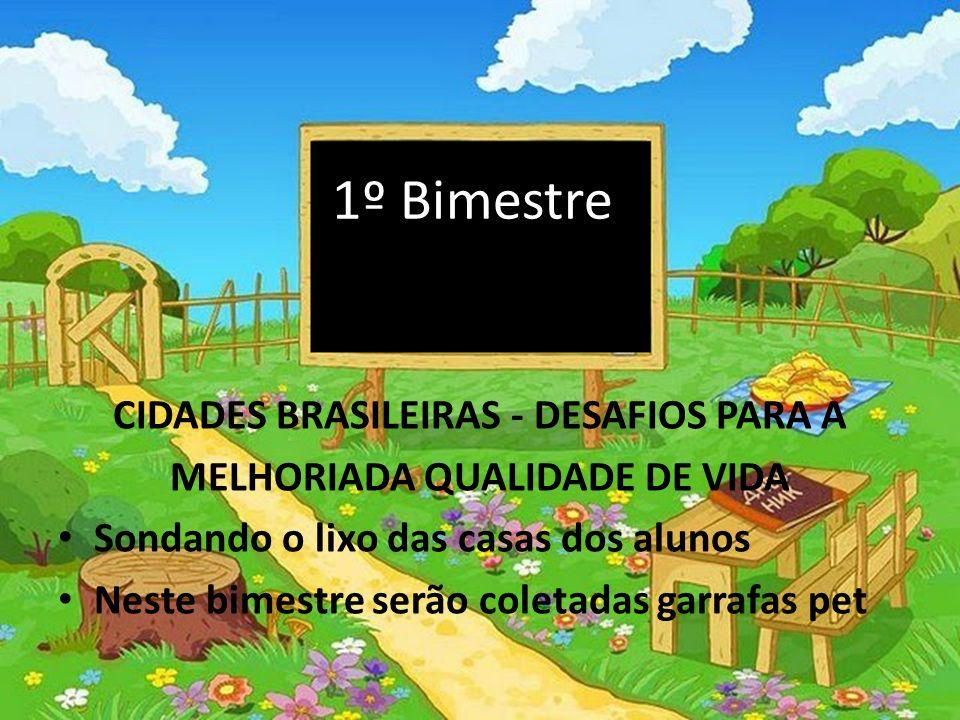 1º Bimestre CIDADES BRASILEIRAS - DESAFIOS PARA A
