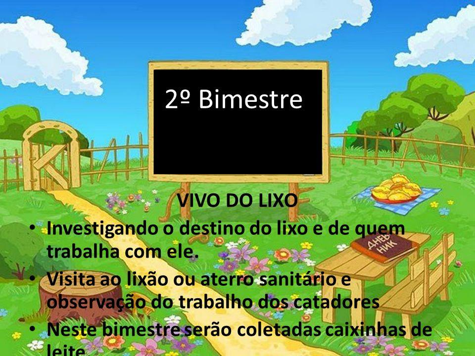 2º Bimestre VIVO DO LIXO. Investigando o destino do lixo e de quem trabalha com ele.