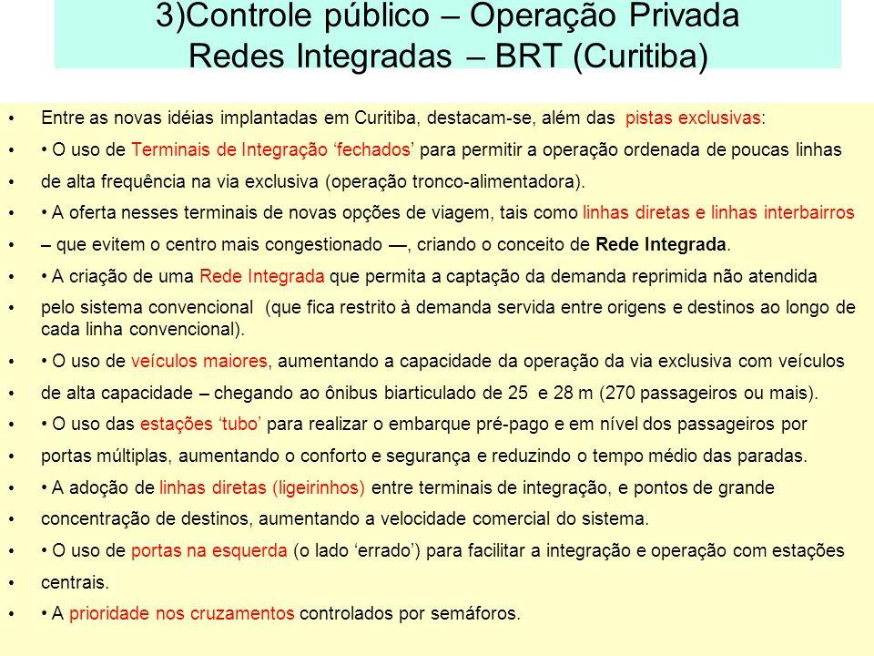3)Controle público – Operação Privada Redes Integradas – BRT (Curitiba)