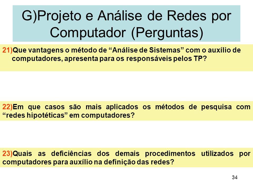 G)Projeto e Análise de Redes por Computador (Perguntas)