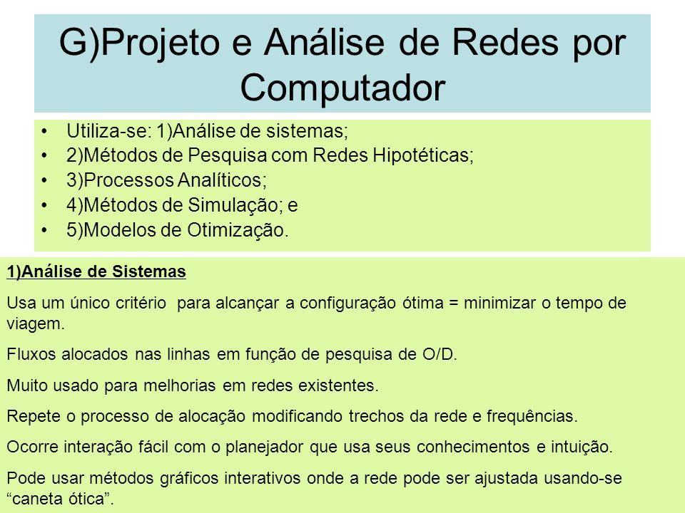 G)Projeto e Análise de Redes por Computador