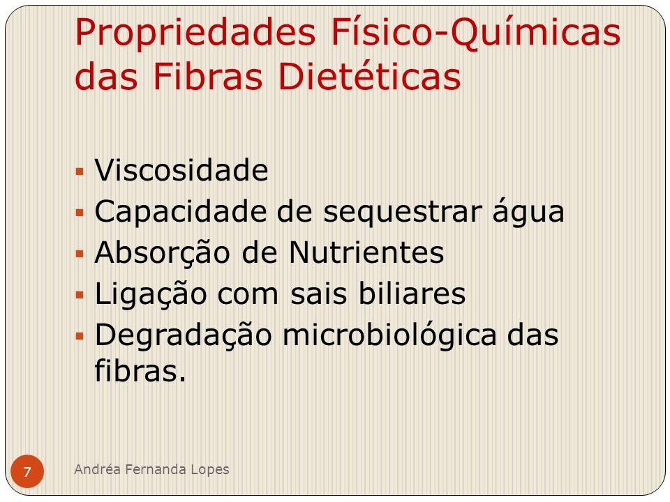 Propriedades Físico-Químicas das Fibras Dietéticas