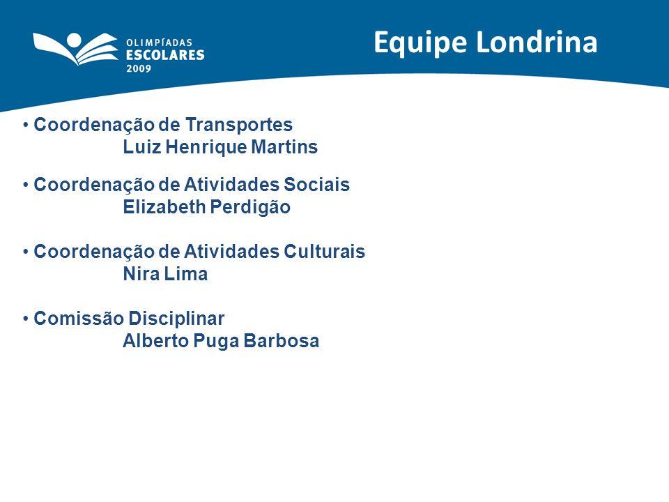 Equipe Londrina Coordenação de Transportes Luiz Henrique Martins
