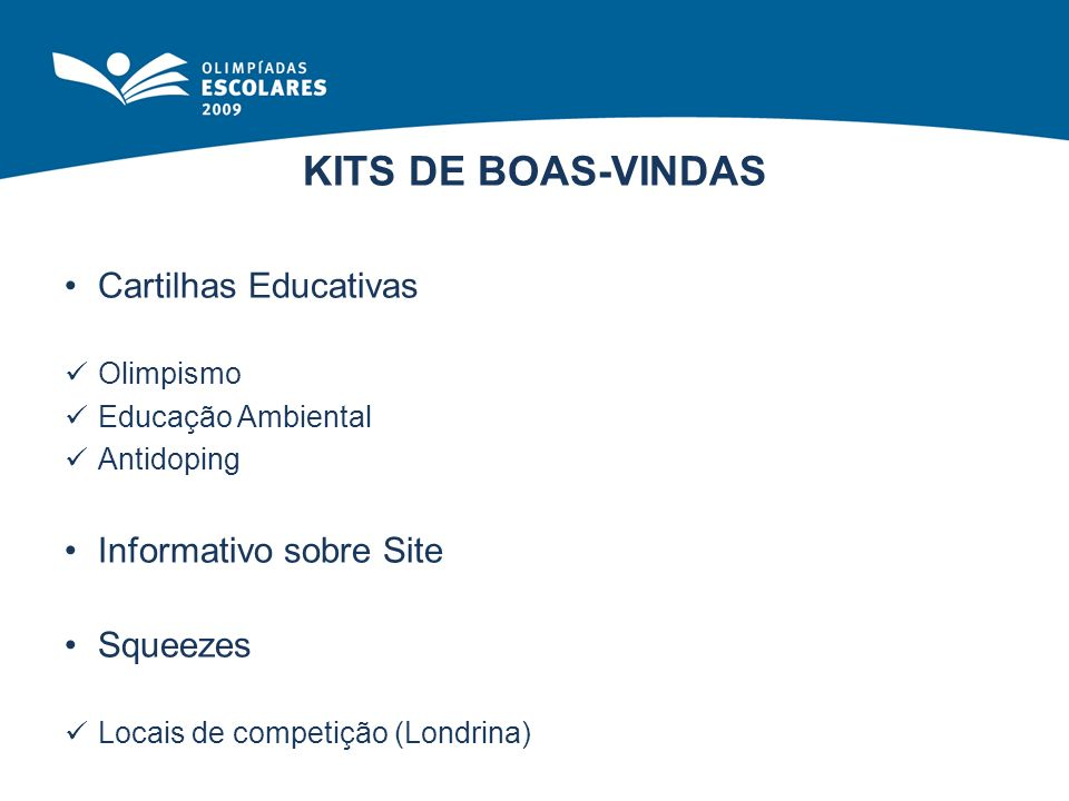 KITS DE BOAS-VINDAS Cartilhas Educativas Informativo sobre Site